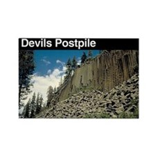 Devils Postpile National Monument Rectangle Magnet