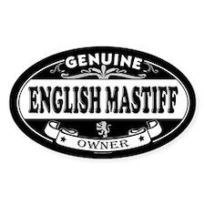 ENGLISH MASTIFF Oval Decal