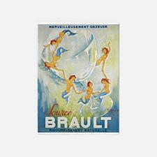Brault Champagne Vintage Poster 5'x7'area