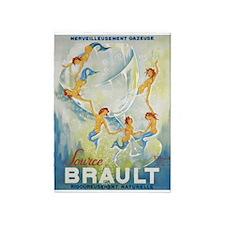 Brault Champagne Vintage Poster 5'x7'area Rug