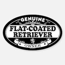 FLAT-COATED RETRIEVER Oval Decal