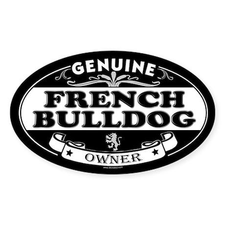 FRENCH BULLDOG Oval Sticker
