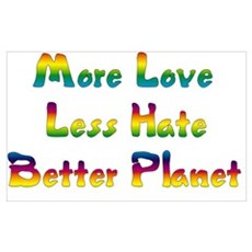 More Love Less Hate Poster