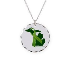 Turn Michigan Green Necklace