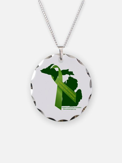 Turn Michigan Green Necklace