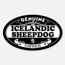 ICELANDIC SHEEPDOG Oval Decal