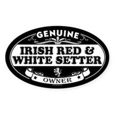 IRISH RED AND WHITE SETTER Oval Decal