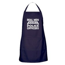 Real Men Marry Police Officers Apron (dark)