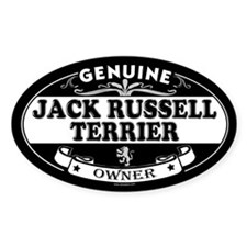 JACK RUSSELL TERRIER Oval Bumper Stickers