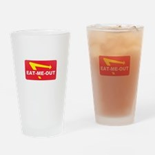 eat me out Drinking Glass