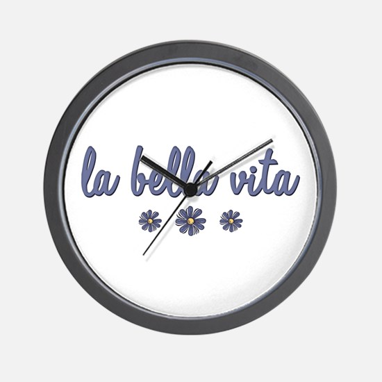La Bella Vita Wall Clock