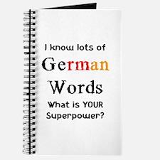 german words Journal