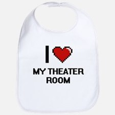 I Love My Theater Room Bib