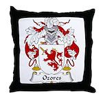 Ozores Family Crest Throw Pillow