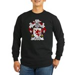 Ozores Family Crest Long Sleeve Dark T-Shirt