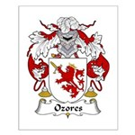 Ozores Family Crest Small Poster