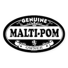 MALTI-POM Oval Decal