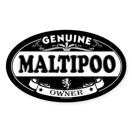 MALTIPOO Oval Sticker
