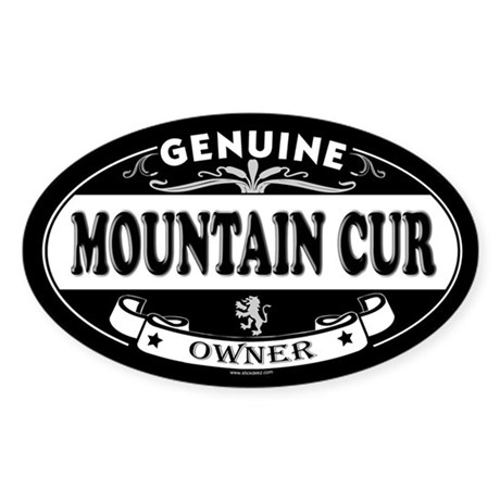 MOUNTAIN CUR Oval Sticker