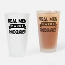 Real Men Marry Photographers Drinking Glass