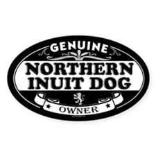 NORTHERN INUIT DOG Oval Decal