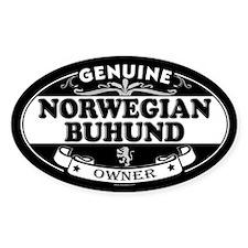 NORWEGIAN BUHUND Oval Decal