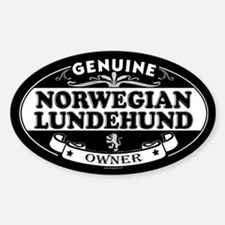 NORWEGIAN LUNDEHUND Oval Decal