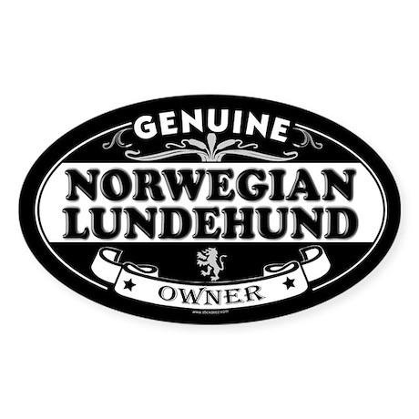 NORWEGIAN LUNDEHUND Oval Sticker