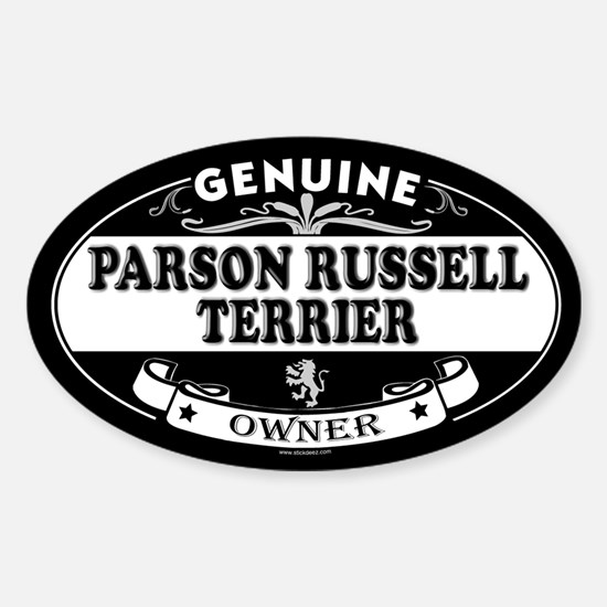 PARSON RUSSELL TERRIER Oval Decal