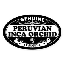 PERUVIAN INCA ORCHID Oval Decal
