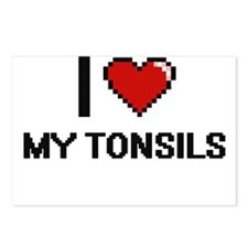 I love My Tonsils Postcards (Package of 8)