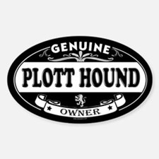 PLOTT HOUND Oval Decal