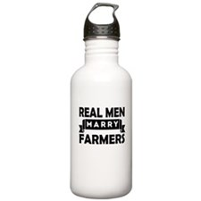 Real Men Marry Farmers Water Bottle