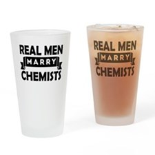 Real Men Marry Chemists Drinking Glass