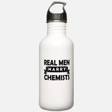 Real Men Marry Chemists Water Bottle