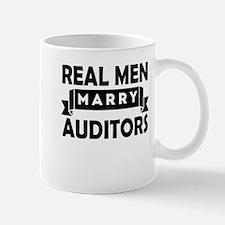 Real Men Marry Auditors Mugs