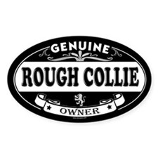 ROUGH COLLIE Oval Decal