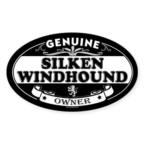 SILKEN WINDHOUND Oval Sticker