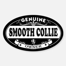 SMOOTH COLLIE Oval Decal