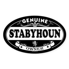 STABYHOUN Oval Decal