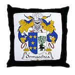 Ormaechea Family Crest Throw Pillow