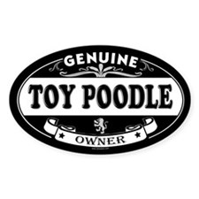 TOY POODLE Oval Decal