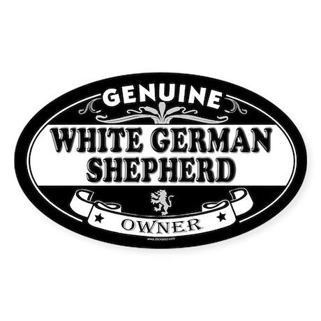 WHITE GERMAN SHEPHERD Oval Sticker