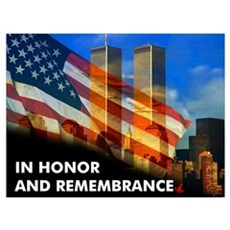 9-11 NEVER FORGET  Poster