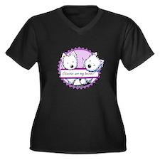 KiniArt West Women's Plus Size V-Neck Dark T-Shirt
