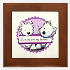 KiniArt Westies Besties Framed Tile