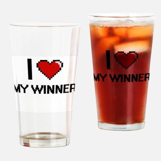 I love My Winner Drinking Glass