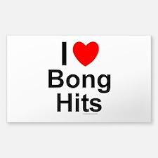Bong Hits Sticker (Rectangle)