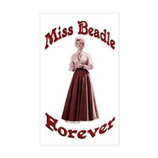 Miss Beadle Forever Rectangle Decal
