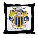Ontiveros Family Crest Throw Pillow